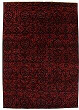 Damask Teppich Orientteppich 357x254 cm, Indien Handgeknüpft Designer