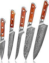 Damaskus Chefmesser VG10 Küchenmesser Set 67