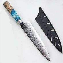 Damaskus Japanische Kochmesser Lachs Raw Slicer