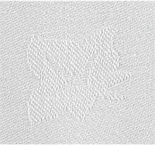 Damast Efeublatt Tischdecke weiss 177x274cm