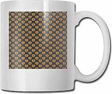 Damast-Porzellan-Tassen für Kaffee, klassisch,