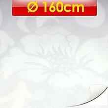 Damast Tischdecke Ø160cm