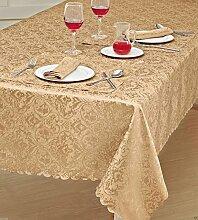 Damast-Tischdecke mit Leinenoptik, rechteckig,