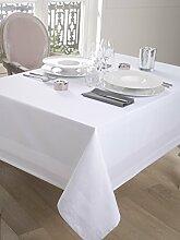 Damast-Tischdecke, Satin, 180 x 180 cm, Weiß