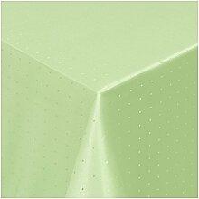 Damast Tischdecke Tafeltuch Punkte Design 220cm