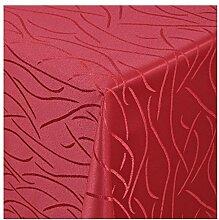 Damast Tischdecke Tafeltuch Streifen Design 130cm