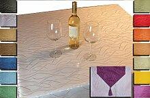 Damast Tischdecke Tischläufer Streifen Elegant In vielen Farben Größen Tischdecke Eckig 160x220 cm Silber