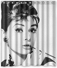DAMEILIN Audrey Hepburn Charme Bild Duschvorhang