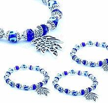 Damen Armband Nazar Boncuk, Glas Blau Auge