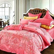 Damen high quality cotton 8 Blumen deckung pastoral floral muster rosa neu zuhause-A Queen1