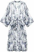Damen Kimono Bademantel Chiffon Kimono lang für