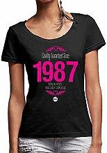 Damen T-Shirt zum 30. Geburtstag, 1985Damen Geburtstag Geschenk, 30. Geburtstag Geschenkidee für Sie, kepster 30. T-Shirt, Textil, schwarz, 8-10