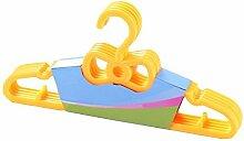 Damero 5 Stücke Kinder Kunststoff Kleiderbügel Baby Kinder Kleidung Veranstalter Durable Hängenden Racks Set (Gelb)