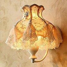 Damjic Bett Schlafzimmer Wand Lampe Tuch Garten Dekorative Wandleuchte Warme Mädchen Koreanischen Wandleuchte 18 Watt * 27 H