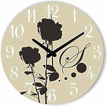 Damjic Die Modernen Garten Wanduhr Einfache Dekoration Schlafzimmer Mode Kunst Zimmer Silent Clock 12 Zoll Ein