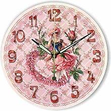 Damjic Europäische Garten Dekoration Wanduhr Uhr Modernen Minimalistischen Fashion Pink Wanduhr 12 CM C