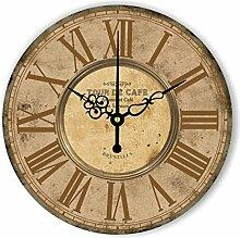 Damjic Europäische Garten Retro Minimalistische Mode Kunst Clock Watch Korean Schlafzimmer Wohnzimmer Still Watch 12 Zoll N