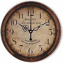 Damjic Europäische Garten Retro Mode Uhr Zimmer Büro Wecker Einfach Alten Mute Quarzuhr 14 Zoll F