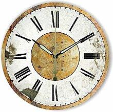 Damjic Europäische Garten Retro Mode Uhr Zimmer Büro Wecker Einfach Alten Mute Quarzuhr 16 Zoll C