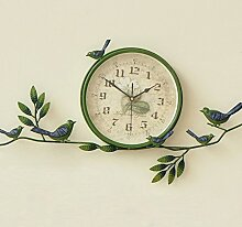 Damjic Europäische Garten Vogel Uhr Wohnzimmer Schlafzimmer Modernen Minimalistischen Home Quarzuhr Uhr Stumm