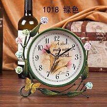 Damjic Im Europäischen Stil Schlafzimmer Wohnzimmer Clock Mute Desktop Wecker Bügeleisen Garten Schmuck P