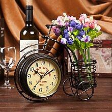 Damjic Im Europäischen Stil Schlafzimmer Wohnzimmer Clock Mute Desktop Wecker Bügeleisen Garten Schmuck G