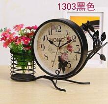 Damjic Im Europäischen Stil Schlafzimmer Wohnzimmer Clock Mute Desktop Wecker Bügeleisen Garten Schmuck W
