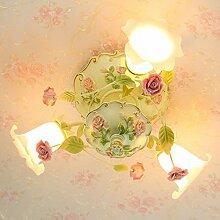 Damjic Kreative Deckenlampe Garten Schlafzimmer Blume Deckenleuchte In Handarbeit Blume Hochzeit Deckenleuchte Led