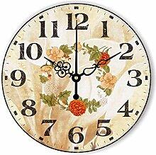 Damjic Modern Fashion Clock Europäischen Garten Quarzuhrwerk Einfache Wohnzimmer Wanduhr 12 Cm B