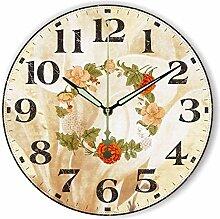 Damjic Modern Fashion Clock Europäischen Garten Quarzuhrwerk Einfache Wohnzimmer Wanduhr 16 Cm C