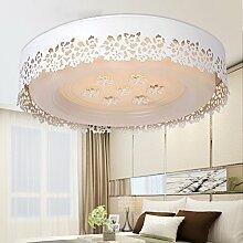 Damjic Moderne Garten Led Deckenleuchte Schlafzimmer Hohlen Geschnitzten Decke Lampe Warme Wohnzimmer Runde Deckenleuchte Weißes Licht-45-Cm