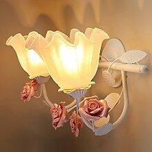 Damjic Schlafzimmer Garten Nachttisch Wandleuchte Korridor Treppe Wandleuchte Kinderzimmer Blume Spiegel Scheinwerfer Doppel