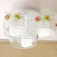 Damjic Schlafzimmer Wohnzimmer Deckenlampe Garten Bügeleisen Blumen Deckenleuchte Kreative Kinder Warme Romantische Decke Lampe 50 W * 27 H