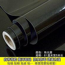 Damlonby Dicke Truhen Aufkleber Mobiliar Aufkleber malen eine solide farb-tv Schrankwand Schrank kleiderschrank Tapete selbstklebende Tapete, schwarze Perle Tapte .Spezifikationen: 0,53 * 200 m
