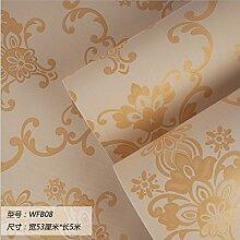 Damlonby Die einfache 3D-Textur Streifen dicken Vlies zu Tapeten Schlafzimmer Wohnzimmer TV Hintergrund Tapete, WFB 08 entfernen,
