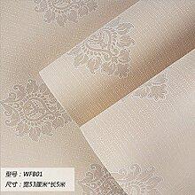 Damlonby Die einfache 3D-Textur Streifen dicken Vlies zu Tapeten Schlafzimmer Wohnzimmer TV Hintergrund Tapete, WFB 01 entfernen,