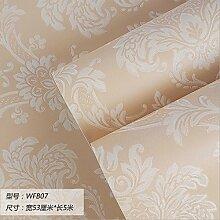 Damlonby Die einfache 3D-Textur Streifen dicken Vlies zu Tapeten Schlafzimmer Wohnzimmer TV Hintergrund Tapete, WFB 07 entfernen,