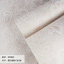 Damlonby Die einfache 3D-Textur Streifen dicken Vlies zu Tapeten Schlafzimmer Wohnzimmer TV Hintergrund Tapete, WFB 03 entfernen,