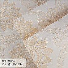 Damlonby Die einfache 3D-Textur Streifen dicken Vlies zu Tapeten Schlafzimmer Wohnzimmer TV Hintergrund Tapete, WFB 02 entfernen,