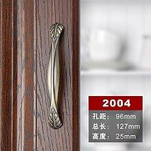 DaMonicv Bronze eloxiert Cheong Wa Continental antiken amerikanischen Chinesische Möbel Hardware cabinet cabinet Türgriff griffe Holz Schublade Griff,96 mm