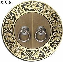 DaMonicv Chinesische Möbel erinnern an die Tür des Schrankes Kupfer mit antikem Schrank runde Einloch blankes Messing bronze Griff,16 cm