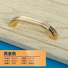 DaMonicv Chinesisches Tsing Bronze Kabinett Griff Continental antike Kleiderschränke Tür Möbel Schrank Schublade Griff,Gold 64 mm