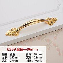 DaMonicv Continental gold griff Schrank Schranktür Schublade Türgriff kleiner Griff metall Möbel Griffe 96 mm