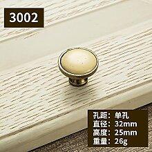 DaMonicv Continental m Gelb kerben Keramik Risse griff Tsing bronze antike Möbel schränken Türgriff,Einlochmontage