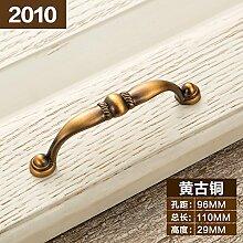 DaMonicv Continental retro Möbel Schrank Türgriffe Antike Schränke Schränke Schublade Griff der Nordischen Kabinett Griff,96 MM