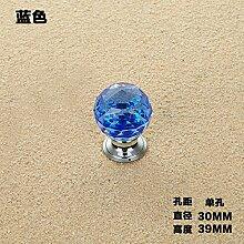 DaMonicv Den Griff der Tür American Diamond Crystal Cabinet Cabinet bar Schrank Türen Einloch Schublade griff Continental,Blau