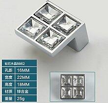 DaMonicv Die post-modernen, minimalistischen kleiner Griff continental Kabinett Schublade Schrank Tür Parkettboden diamond crystal Griff,Kleines Doppelzimmer mit Bohrung