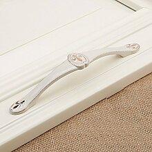 DaMonicv Europäische weiße Wand montiert Mode Afache Schubladen Schrank Türgriff Tür Türgriff, Abstand 128 MM