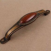 DaMonicv Europäischen Antike Griff Kaffee Bronze Kleiderschrank Schränke Schublade Tür Griff brennen geschnitzte Möbel,allgemeine 168MM Lochabstand 128MM Griff