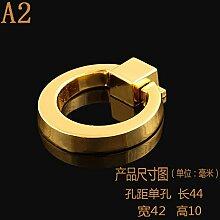 DaMonicv Gold einzelne innenauszieher modernen minimalistischen Schublade Schrank Schranktür griff Zinklegierung Möbel Hardware kleiner Griff,A2